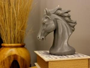 Horse Handmade Candle-Grey