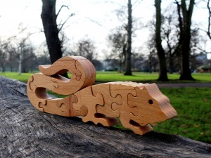 Chameleon - Wooden Puzzle Toys