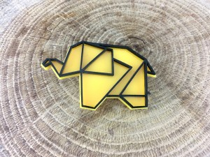Elephant Pin - Yellow