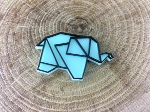 Elephant Pin - Blue