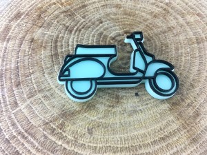 Vespa Scooter Pin - Blue