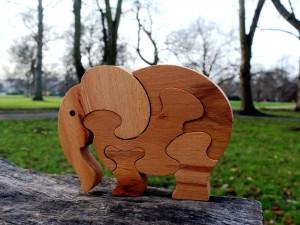 Elephant - Wooden Puzzle Toys