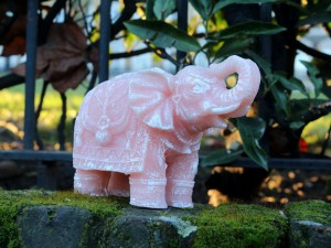 Elephant Handmade Candle-Orange