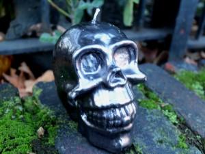 Skull Handmade Candle - Metalic