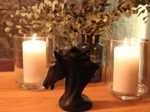 Horse Handmade Candle-Black