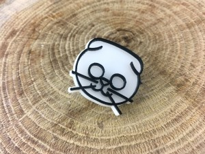 Scottish Cat Pin - White