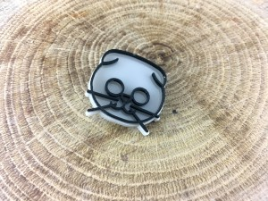Scottish Cat Pin - Grey