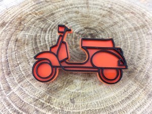 Vespa Scooter Pin - Orange