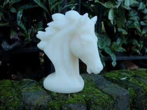 Horse Handmade Candle-White