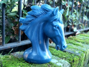 Horse Handmade Candle-Dark Blue