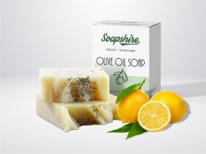 Lemon & Poppy Handmade Natural Pie Soap 100g